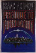 Books:Science Fiction & Fantasy, [Jerry Weist]. Isaac Asimov. SIGNED. Prelude to Foundation. New York: A Foundation Book (Doubleday), 1988. No st...