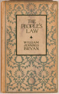 Books:Americana & American History, William Jennings Bryan. The People's Law. New York: Funk& Wagnalls, 1914. First edition. Twelvemo. 64 pages. Publis...