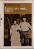 Books:Biography & Memoir, Isak Dinesen. Letters From Africa, 1914-1931. London:Weidenfeld and Nicolson, [1981]. First British edition. Octavo...
