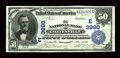 National Bank Notes:Pennsylvania, Coatesville, PA - $50 1902 Date Back Fr. 669 The NB of CoatesvilleCh. # (E)3990. ...