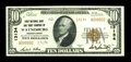 National Bank Notes:Pennsylvania, Waynesburg, PA - $10 1929 Ty. 2 First NB & TC Ch. # 13134. ...