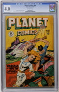 Golden Age (1938-1955):Science Fiction, Planet Comics #60 (Fiction House, 1949) CGC VG 4.0 Off-whitepages....