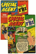 "Golden Age (1938-1955):Crime, Special Agent #6 and 7 Group - Davis Crippen (""D"" Copy) pedigree (Parents' Magazine Institute, 1949) .... (Total: 2 Comic Books)"
