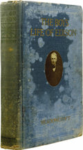 Books:Signed Editions, Thomas Edison: Signed Edition of William H. Meadowcroft's The Boy's Life of Edison with Autobiographical Notes by Mr. ... (Total: 1 Item)