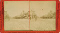 Photography:Stereo Cards, MILES CITY, MONTANA MAIN STREET - L.A. HUFFMAN - LARGE FORMATSTEREOVIEW - circa.1880-90.. This is a large format stereoview...(Total: 1 Item)