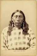 Photography:Cabinet Photos, CROW INDIAN 'SQUAW JESSIE IRON BULL', F. J.HAYNES PHOTO 1880'S.Noted Indian Iron Bull was banished from the Crow res...(Total: 1 Item)