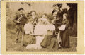 Photography:Cabinet Photos, MUSICAL FAMILY - CABINET CARD - circa 1885-95.. This is a niceimage of a family playing musical instruments on a gold-rimme...(Total: 1 Item)