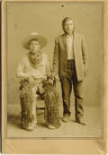Photography:Cabinet Photos, NATIVE AMERICAN INDIAN COWBOYS - CABINET CARD - ca.1890-1900. Thisis a nice image of two Native American Indian Cowboys tha...(Total: 1 Item)