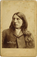 """Photography:Cabinet Photos, """"JACK RED CLOUD"""" SON OF RED CLOUD CABINET CARD 1880s He was borninto Oglala Sioux tribe, his father being the infamous Red ...(Total: 1 Item)"""