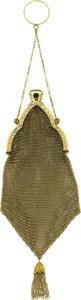 Estate Jewelry:Purses, Sapphire, Seed Pearl, Gold Mesh Purse. ...