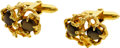 Estate Jewelry:Cufflinks, Gentleman's Black Star Sapphire, Gold Cuff Links. ...