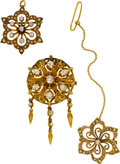 Estate Jewelry:Brooches - Pins, Victorian Diamond, Seed Pearl, Gold Brooches. ...
