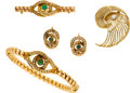 Estate Jewelry:Lots, Emerald, Diamond, Seed Pearl, Gold Jewelry Lot. ...