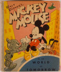 Books:Children's Books, [Big Little Book]. Walt Disney. Mickey Mouse in the World ofTomorrow. Racine: Whitman, [1948]. Square sixteenmo. 28...
