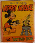 Books:Children's Books, [Big Little Book]. Walt Disney. Mickey Mouse and the 'LectroBox. Racine: Whitman, 1946. Square sixteenmo. 346 pages...