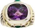Estate Jewelry:Rings, Amethyst, Chrysoprase, Sterling Silver, Gold Ring, David Yurman....