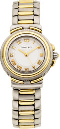 Estate Jewelry:Watches, Tiffany & Co. Lady's Stainless Steel, Vermeil Wristwatch,modern. ...