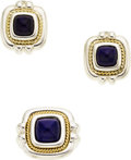 Estate Jewelry:Suites, Lapis Lazuli, Sterling Silver, Gold Jewelry Suite, Tiffany &Co. . ...