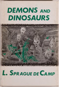 Books:Science Fiction & Fantasy, L. Sprague De Camp. Demons and Dinosaurs. Sauk City: Arkham House, 1970. First edition. Octavo. 72 pages. Jacket...