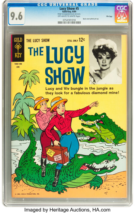 The Lucy Show #5 File Copy (Gold Key, 1964) CGC NM+ 9.6 Off-white to white pages....