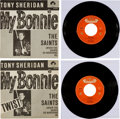 "Music Memorabilia:Recordings, Beatles - Tony Sheridan & the Beat Brothers ""My Bonnie""/ ""TheSaints"" 45 and Picture Sleeve Group (Polydor 24673 - Germany, 19...(Total: 2 Items)"