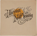Music Memorabilia:Autographs and Signed Items, Neil Young Signed Harvest LP (1986)...