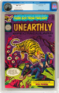 Silver Age (1956-1969):Horror, Unearthly Spectaculars #1 Pacific Coast pedigree (Harvey, 1965) CGCNM+ 9.6 Off-white to white pages....