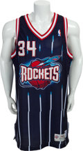 Basketball Collectibles:Uniforms, 1995-96 Hakeem Olajuwon Game Worn Houston Rockets Jersey....