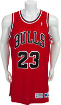 Basketball Collectibles:Uniforms, 1992-93 Michael Jordan Game Worn Chicago Bulls Jersey. ...