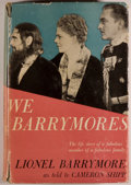Books:Biography & Memoir, Lionel Barrymore as told to Cameron Shipp. We Barrymores.New York: Grosset & Dunlap, Publishers, 1951. Reprint....