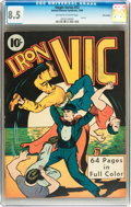 Golden Age (1938-1955):Superhero, Single Series #22 Iron Vic - Billy Wright pedigree (United Features Syndicate, 1940) CGC VF+ 8.5 Off-white to white pages....