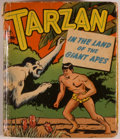 Books:Children's Books, [Big Little Book]. Edgar Rice Burroughs. Tarzan in the Land ofthe Giant Apes. Racine: Whitman, 1949. Square sixteen...