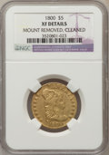 1800 $5 BD-2, High R.3 -- Mount Removed, Cleaned -- NGC Details. XF....(PCGS# 45592)
