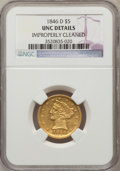 Liberty Half Eagles: , 1846-D $5 -- Improperly Cleaned -- NGC Details. UNC. NGC Census:(1/3). PCGS Population (0/6). Mintage: 80,294. Numismedia ...