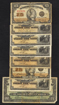 Canadian Currency: , A Mixed Grouping of Lower Denomination Canadian Material.. ...(Total: 8 notes)