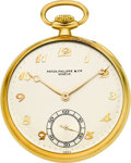 Timepieces:Pocket (post 1900), Patek Philippe & Co. Gent's Gold Pocket Watch, circa 1940. ...