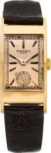 "Timepieces:Wristwatch, Patek Philippe & Co. Very Fine Rose Gold Ref. 425 ""Tegolino"" Vintage Wristwatch. ..."
