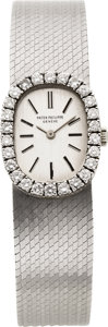 Timepieces:Wristwatch, Patek Philippe & Co. Ref. 3377/1 Lady's Diamond & WhiteGold Wristwatch. ...