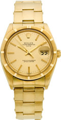 Timepieces:Wristwatch, Rolex Ref. 1500 Gold Oyster Perpetual Date, circa 1977. ...