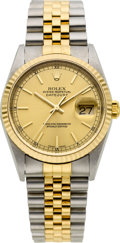 Timepieces:Wristwatch, Rolex Ref. 16233 Gent's Two Tone Oyster Perpetual Datejust, circa 2000. ...