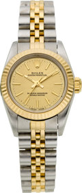 Timepieces:Wristwatch, Rolex Ref. 67193 Lady's Two Tone Oyster Perpetual, circa 1995. ...