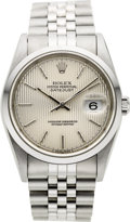 Timepieces:Wristwatch, Rolex Ref. 16200 Gent's Steel Oyster Perpetual Datejust, circa 1997. ...