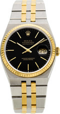 Timepieces:Wristwatch, Rolex Ref. 17013 Two Tone Oysterquartz Datejust, circa 1991. ...