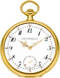 Timepieces:Pocket (post 1900), Patek Philippe & Co. 18k Gold Pocket Watch, circa 1918. ...
