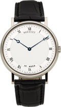 Timepieces:Wristwatch, Breguet Very Fine Ref. 5157 White Gold Classique Gent's Automatic Wristwatch. ...
