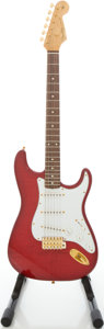 Musical Instruments:Electric Guitars, 1992 Fender Custom Shop 62 Stratocaster Trans Red Solid BodyElectric Guitar, #052 of 100....