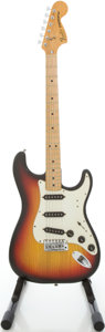 Musical Instruments:Electric Guitars, 1979 Fender Stratocaster Sunburst Solid Body Electric Guitar, #S918852....
