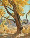 Paintings, MAYNARD DIXON (American, 1875-1946). October Morning, 1940. Oil on board. 19-1/2 x 15 inches (49.5 x 38.1 cm). Signed an...
