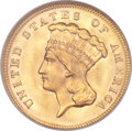 Three Dollar Gold Pieces, 1878 $3 MS65 NGC....