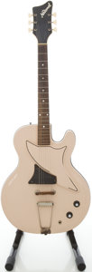 Musical Instruments:Electric Guitars, 1962 National Res-O-glas Tan Semi-Hollow Body Electric Guitar,#G3998....